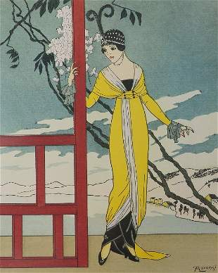 Worth, Dinner Dress, 1913 Fabius Lorenzi Art Poster
