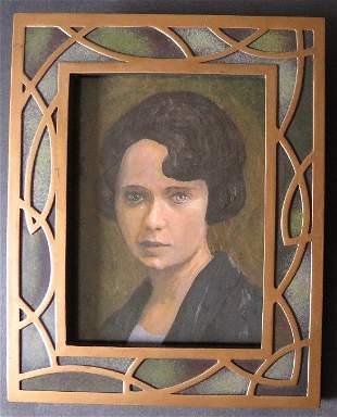 Portrait of Margaret Mitchell, GWW, Art Nouveau Frame