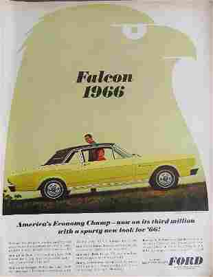 Ford Falcon model 1966 Large Advertisement 1965