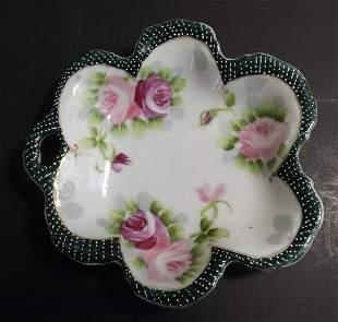 Nippon Morimura Dish, Noritake Moriage Roses 1891-1921