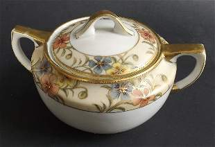 Nippon Morimura Noritake lidded Sugar Bowl 1891-1910s