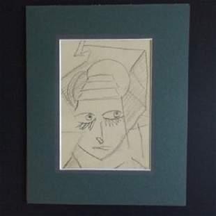Friedrich Jordan, A Girl, pencil drawing, Germany