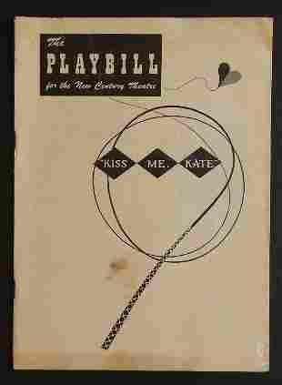 Kiss Me Kate Broadway Musical Playbill 1949 NY, ill.