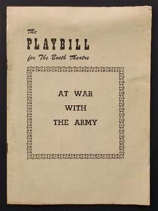 Broadway Theater Playbill At War with the Army 1949