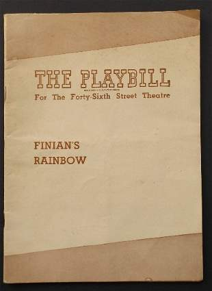 Broadway Theater Playbill Finians Rainbow 1947