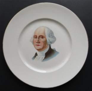 Large George Washington Porcelain Plate 1889 Knowles