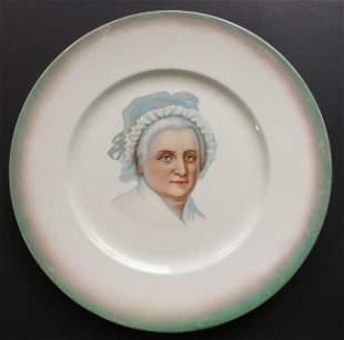 Large Martha Washington Porcelain Plate 1889 Knowles