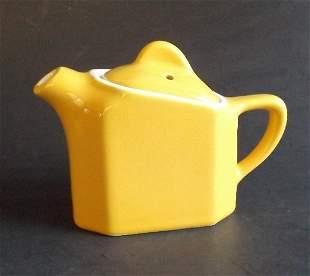 Hall Yellow Art Deco Teapot 1930s Individual Slant Top