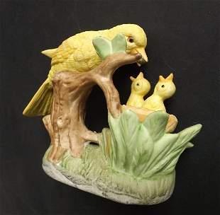 Jonathon Byron canary bird bisque figurine 1950s