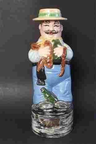 Alberta Wine Decanter, Ceramic Figurine 1950s