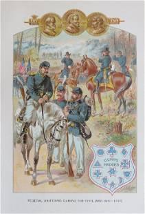 Ogden, Federal Uniforms Civil War 1861- 65 Litho, 1890s