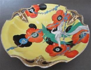 Noritake Hand Painted Art Deco Porcelain Bowl, 1930s