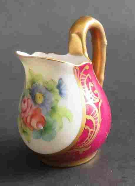 French Porcelain Creamer Meissna Limoges 1890s-1910s