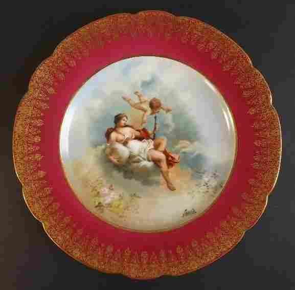 Moville, Roman Goddess Juno Limoges Porcelain Plate