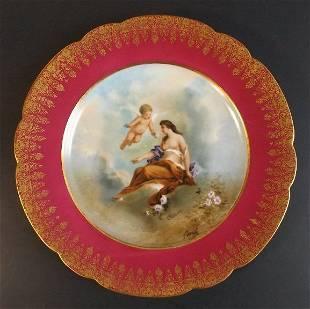 Moville, Goddess Chloris, Flora Limoges Porcelain Plate