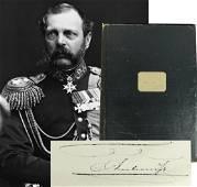Czar Alexander II Rare Signed Illuminated Manuscript
