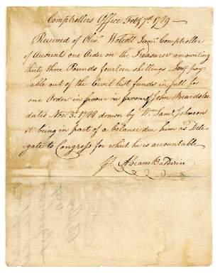 Abraham Baldwin Rare Constitution Signer Signed