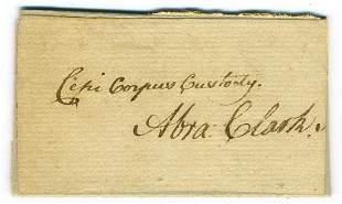 Abraham Clark Declaration Signer Signature