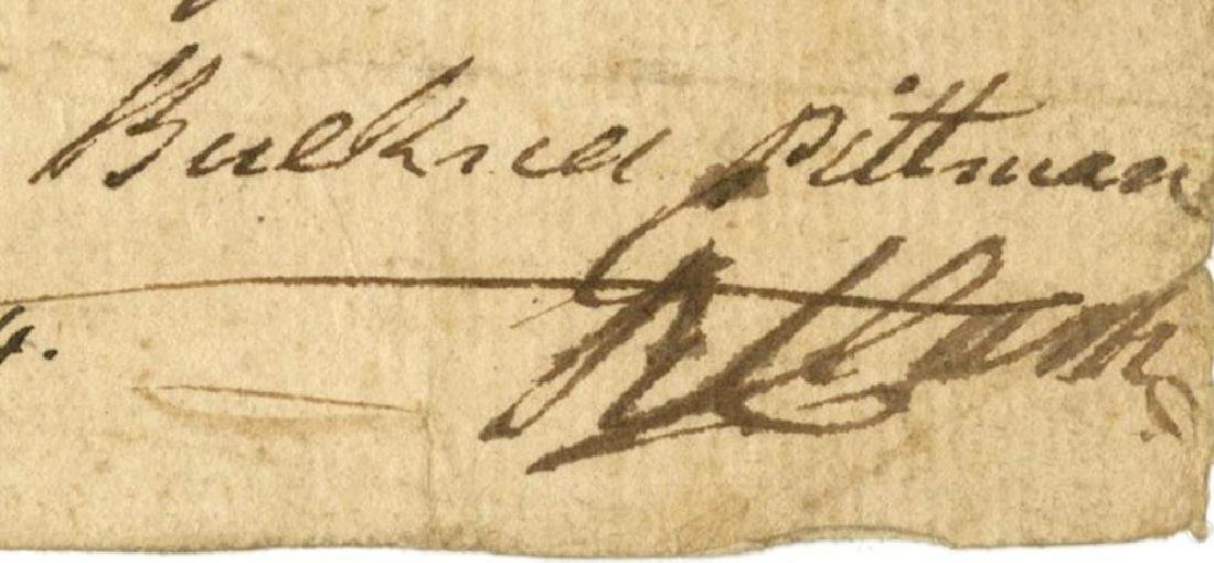 George Rogers Clark Signed Pay Order During the - 2