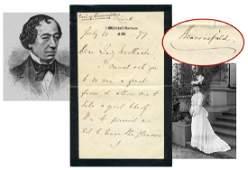 Benjamin Disraeli ALS, 5 Months after Becoming