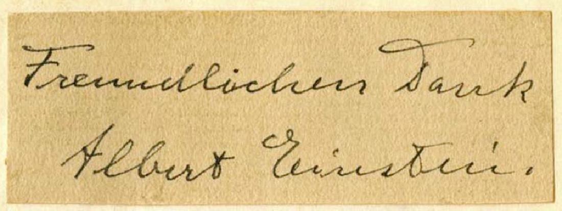 Albert and Elsa Einstein Signatures on Album Page, Rare - 2