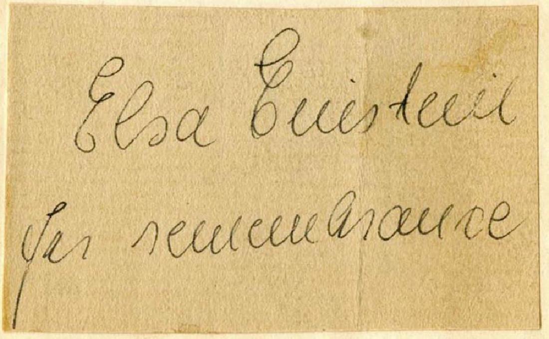 Albert and Elsa Einstein Signatures on Album Page, Rare - 3