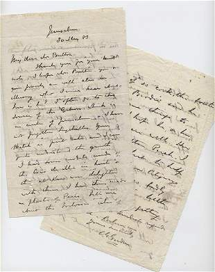 Charles G Chinese Gordon ALS Written to a Comrade