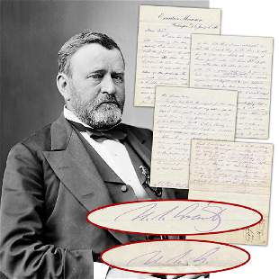 US Grant Scarce Signed Presidential ALS Concerning