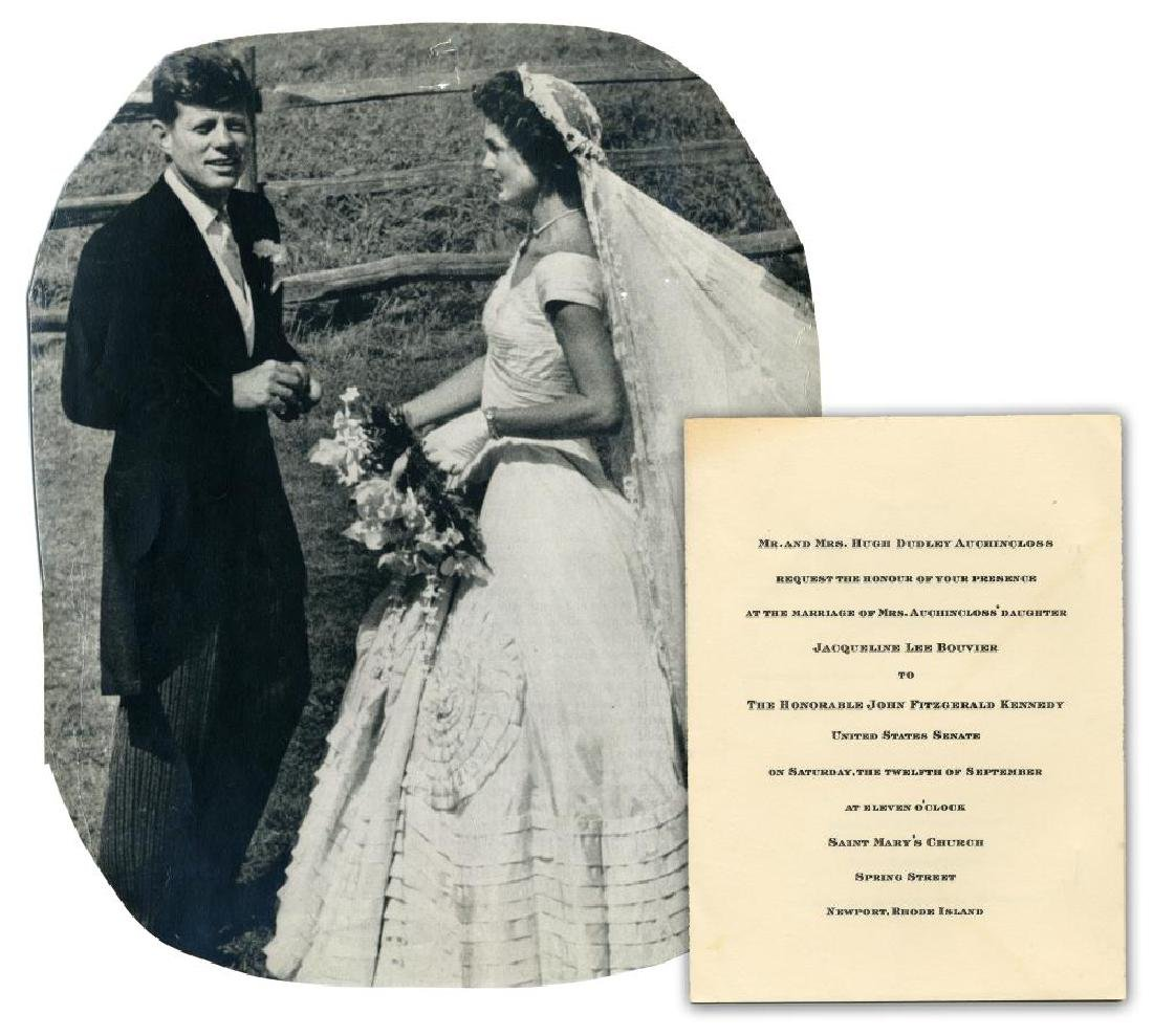 John F. & Jacqueline Kennedy Scarce 1953 Wedding