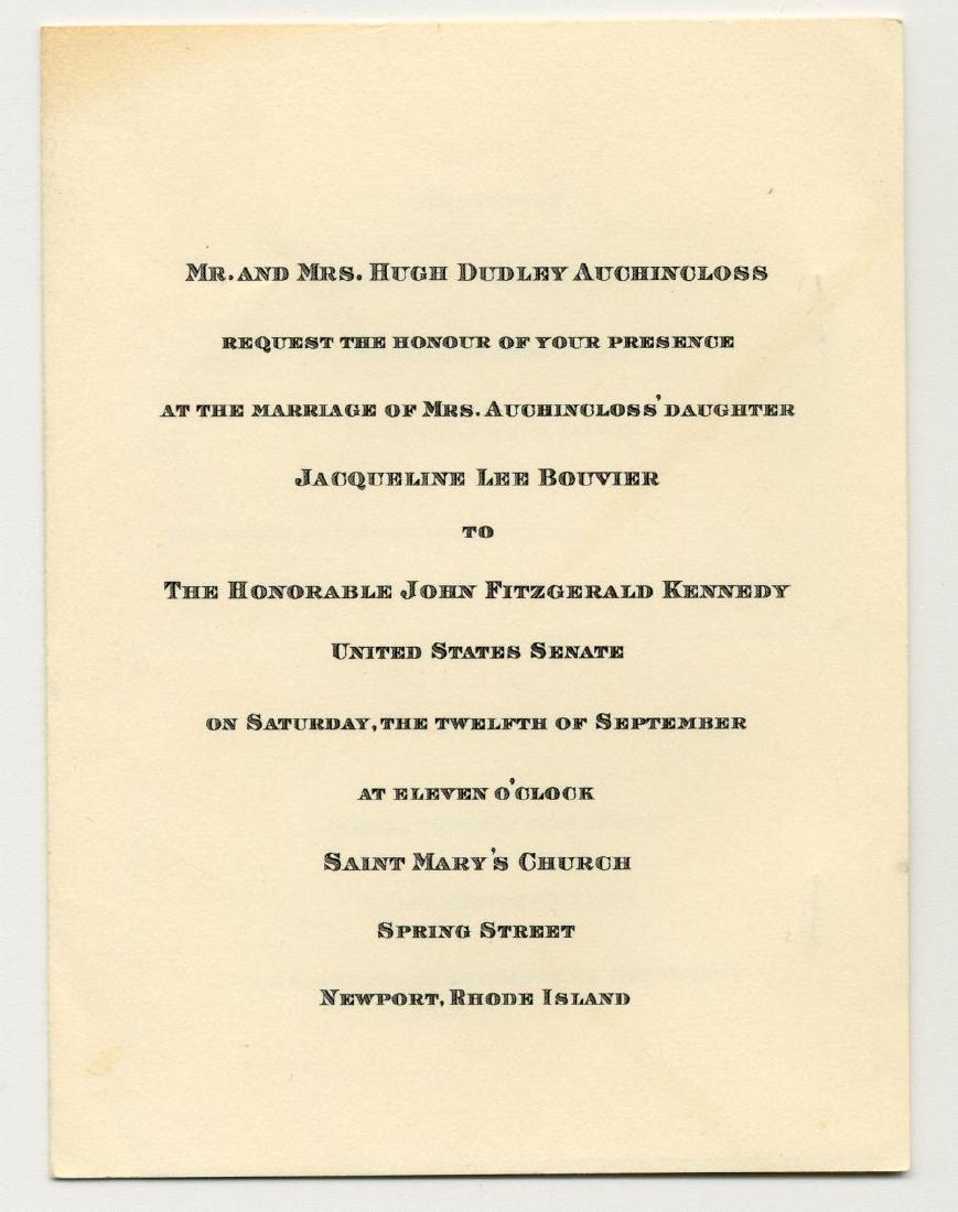 John F. & Jacqueline Kennedy Scarce 1953 Wedding - 2