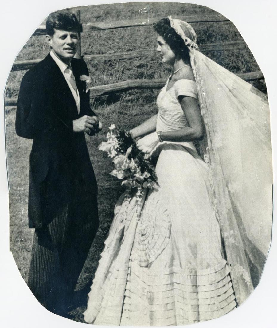 John F. & Jacqueline Kennedy Scarce 1953 Wedding - 4