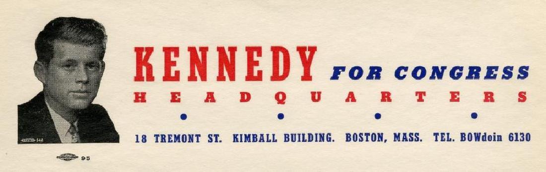 John F. Kennedy 1946 rare Congressional Letterhead - 2