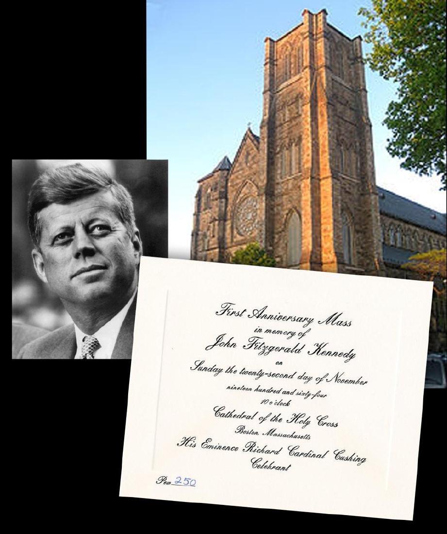 John F. Kennedy 1st Anniversary Mass Invitation to