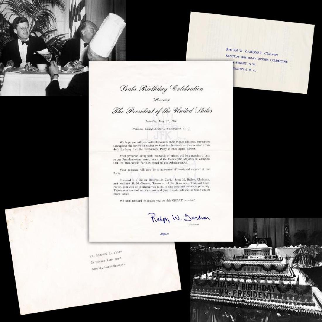 John F. Kennedy Invitation to 1961 Birthday Gala Hosted