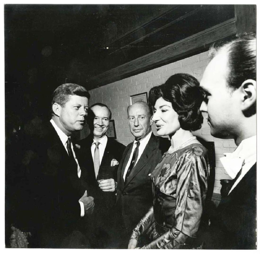 President John F. Kennedy Visits with Opera Singer,