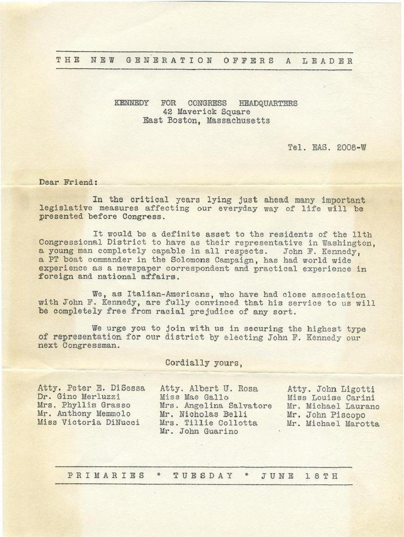 John F. Kennedy's Congressional Campaign of 1946, A - 7