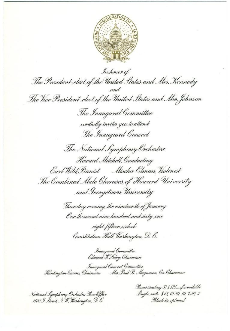 Inaugural Committee Invites Kennedy Family Friend - 3