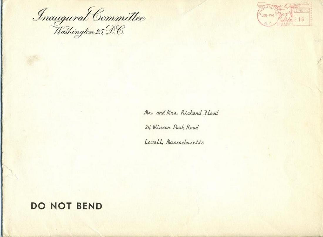 Inaugural Committee Invites Kennedy Family Friend - 6