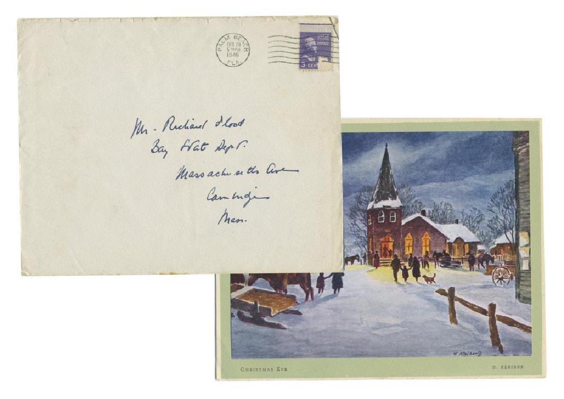 John F. Kennedy Sends Christmas Card to Joseph P.