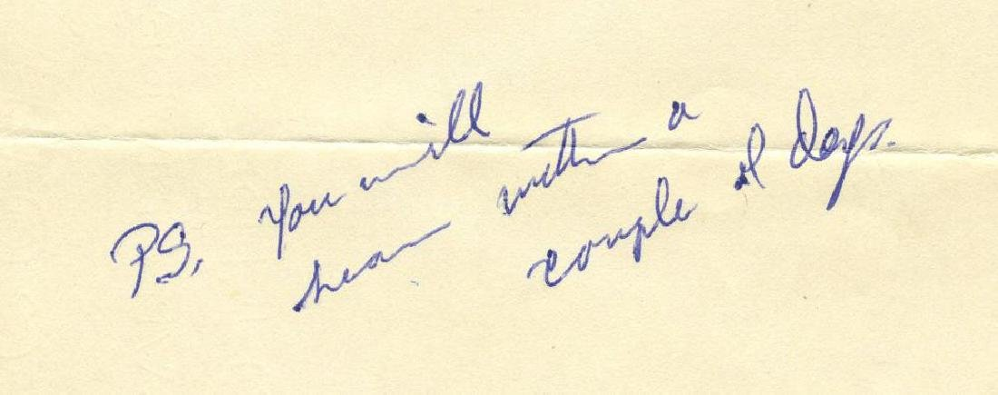 Robert F. Kennedy Writes Family Friend and Political - 3