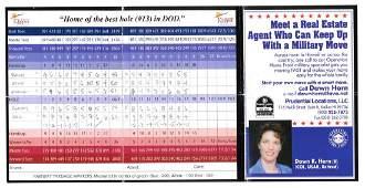 President Obama Signed & Handwritten Golf Score Card
