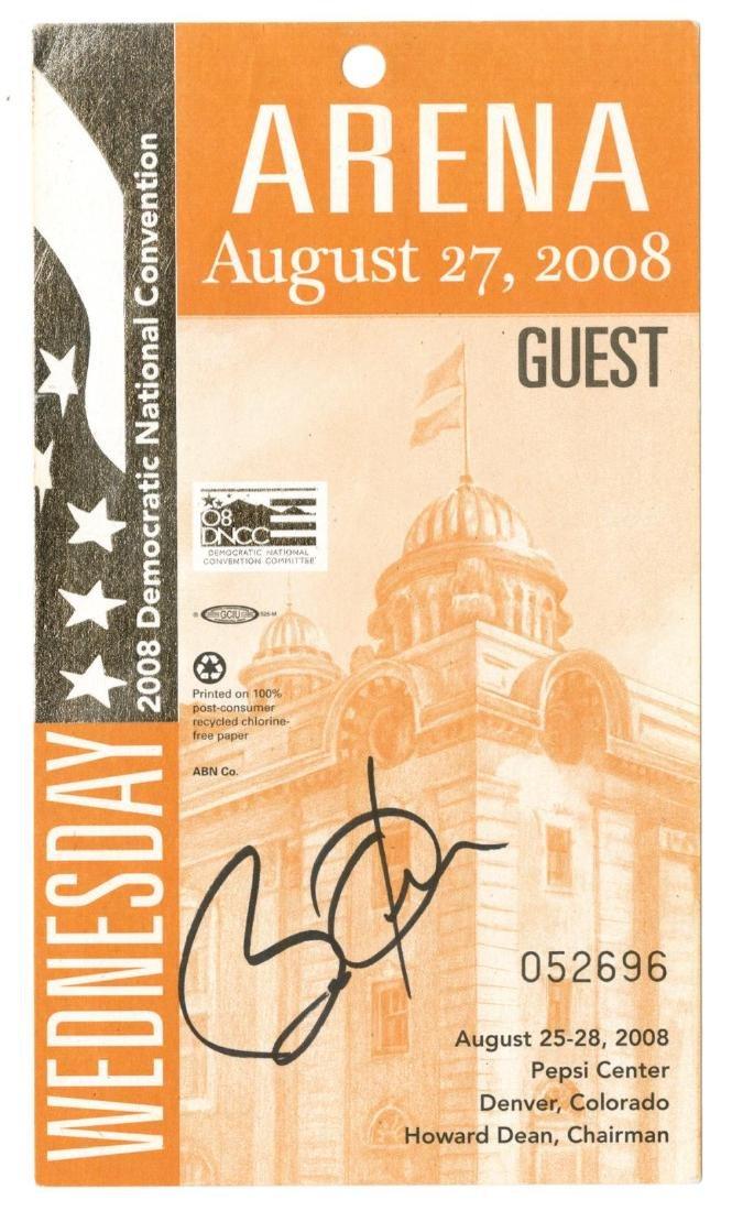 Barack Obama Rare Signed 2008 Democratic National
