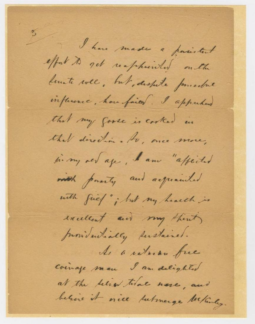 """James R. Randall Declines to Forward a Copy of """"My - 5"""