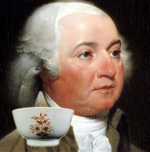 John Adams: Chinese Export Teacup Purportedly from His
