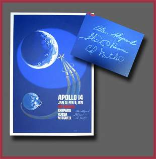 Large Apollo 14 Manned Mission to the Moon Limited