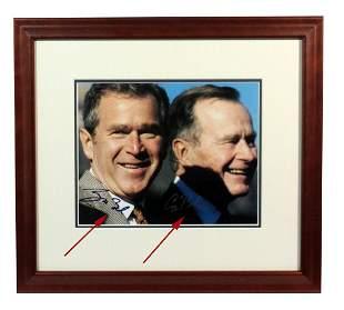 George HW Bush George W Bush Signed Photograph