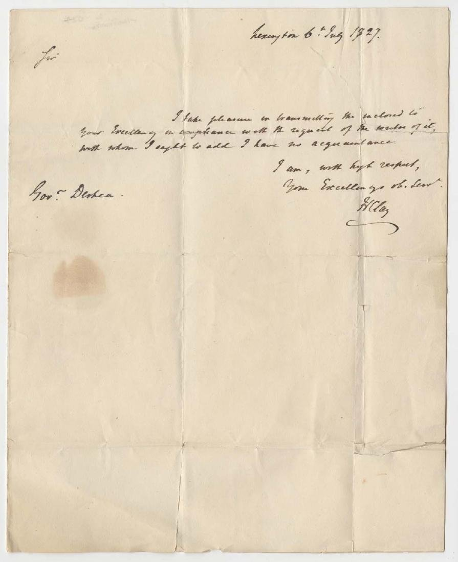 Henry Clay Twice Signed ALS with Integral Autographed