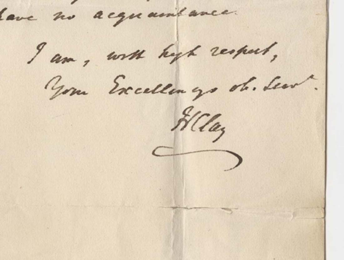 Henry Clay Twice Signed ALS with Integral Autographed - 2