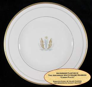William Clinton Dish Personally Owned and Used Plate