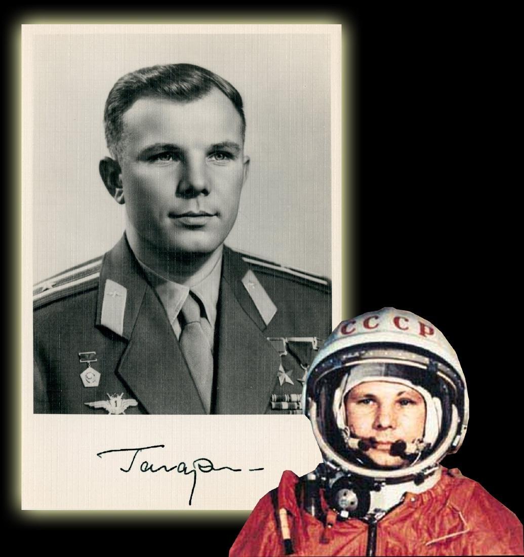 Yuri Gagarin, Soviet Cosmonaut, Signed Photo: First Man